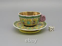 Rare Spode Butterfly Handle Demitasse Cup & Saucer Pattern 2154 circa 1815