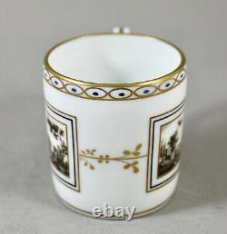 Richard Ginori Porcelain Italy Fiesole Demitasse Cups Coffee Cans & Saucers X 8