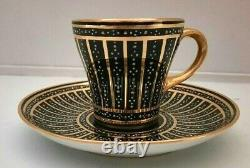 Richard Klemm Dresden Hand Painted Demitasse Cup And Saucer 1880-1920