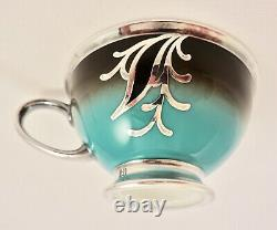Rosenthal Demitasse Cup & Saucer, Art Deco, Silver Overlay