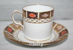 Royal Crown Derby Imari 8450 Set of 6 x Demitasse Cups & Saucers 1911 -vgc