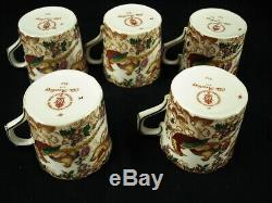 Royal Crown Derby Olde Avesbury A. 73 Set Of 5 Demitasse Cup & Saucer Sets