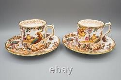 Royal Crown Derby Olde Avesbury Demitasse Cup & Saucers Set 5 FREE USA SHIPPING