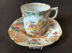 Royal Crown Derby Olde Avesbury Demitasse Cup and Saucers Set of 6 -1937 Vintage