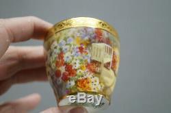 Royal Doulton Hand Painted J Price Dingley Park Drakelowe Demitasse Cup & Saucer