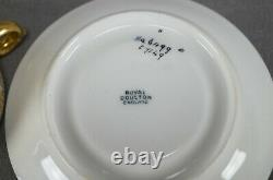 Royal Doulton Raised Beaded Gold & Yellow Gold Interior Demitasse Cup & Saucer