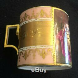 Royal Vienna Rare Hand Painted Artist Signed Demitasse Cup Saucer