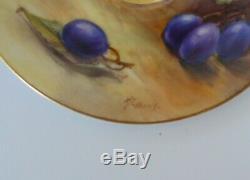 Royal Worcester Fruits Demitasse Cup & Saucer Artist Signed