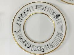 SET Tiffany Moon River Henry Mancini Demitasse Cup Saucers Breakfast at Tiffanys