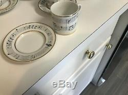 SET of 6 SUPERB Tiffany & Co. Porcelain MOON RIVER DEMITASSE CUPS & SAUCERS MINT