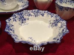 SHELLEY DAINTY BLUE creamer/sugar, Tea cup/saucer, Demitasse & Saucer, Candy Dish