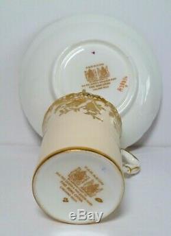 SIX Exceptional FINE VTG PARAGON DEMITASSE CUP & SAUCER SET ROSES/TULIP MINT