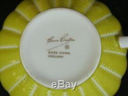 SUSIE COOPER Rare Vintage 5 Flat Tea Cups & 7 Saucers Multi colors
