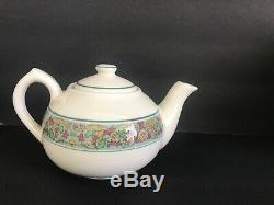 Set 23 MAYER CHINA Manhattan PATTERN Demitasse Bullion Bowls Cups Saucers Tea