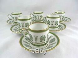 Set/6 Richard Ginori ERCOLANO Demitasse Espresso Cups & Saucers Ships Free