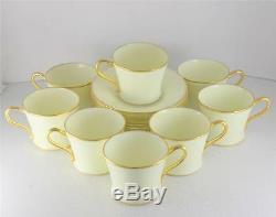 Set 8 Antique Cauldon England Demitasse Cup Saucer Set Gilt Bone China