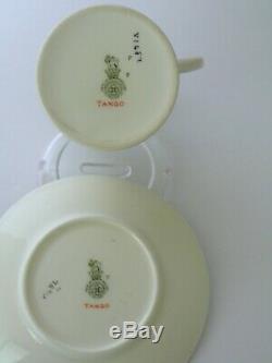 Set Of 6 Art Deco Royal Doulton TANGO Demitasse Cups & Saucers