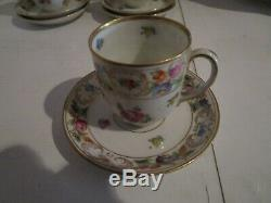 Set of 10 Schumann Expresso Demitasse Cups & Saucers-Dresdener Dresdner Art