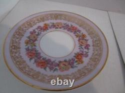 Set of 12 Charles Ahrenfeldt Demitasse Cups & Saucers-Lavender Band withFlowers