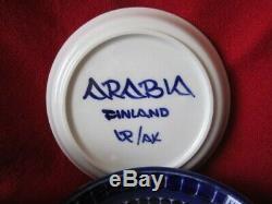 Set of 6 ARABIA OF FINLAND Valencia Ulla Procopé Espresso Demitasse cup & saucer