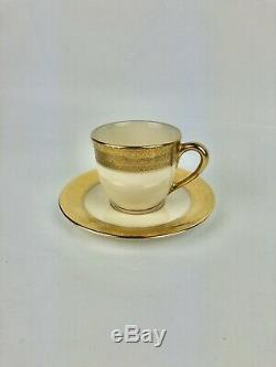 Set of 6 Demitasse Cups and Saucers Lenox Westchester Presidential Collection