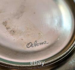 Set of 6 Osborne China Art Stuido Chicago Demitasse Cups Saucers Gold Encrusted