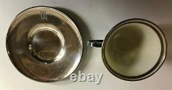 Set of 8 Lenox Porcelain SHREVE & CO. Demitasse Cups and Saucers