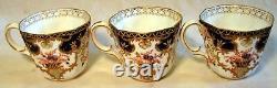 Set of Six Royal Crown Derby Imari Demitasse Cups & Saucers in Original Case