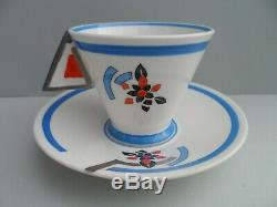 Shelley Art Deco OVERLAPPING J Vogue shape demitasse/coffee cup & saucer
