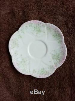 Shelley Foley Wileman Dainty Trailing Violets Demitasse Cup & Saucer c. 1890-1910