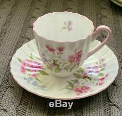 Shelley LUDLOW Demitasse cup & saucer, Lot of 7, perfect condition, Lovely