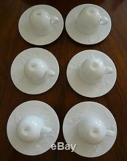 Six (6) Rosenthal Magic Flute White Demitasse Cups & Saucers Absolute Mint Cond