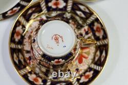 Six Royal Crown Derby Imari 2451 Quality Demitasse Coffee Cups & Saucers