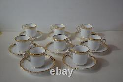 Spode Goldsmith Gadroon Demitasse Cups With Saucers Set Of 8