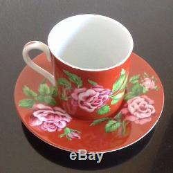 TIFFANY & CO 12 Peice China Dessert Set Demi Tasse Cups Saucers 8 Plates RARE