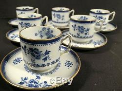 Tiffany And Co Copeland Spode Demitasse Espresso Coffee Cups Saucers 12 Piece
