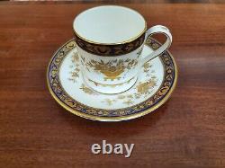 UNUSED MINTON DYNASTY Cobalt Blue (H3375) Demitasse Cup/Saucer Qty Left 4
