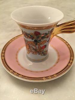 VERSACE BUTTERFLY GARDEN DEMITASSE CUP AND SAUCER Collectibles