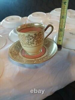 VINTAGE BAVARIA TIRSCHENREUTH GERMANY TEA CUP & SAUCER SET Demitasse Super Cute