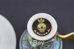 Versace Flat Demitasse Cup & Saucer Set Les Tresors De La Mer New