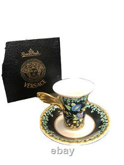 Versace Gold Ivy by Rosenthal 3.5 Demitasse Cup & Saucer