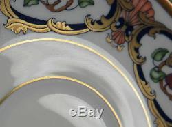 Vintage CARTIER LA MAISON DU PRINCE 8 Demi Tasse Cups & Saucers Limoges