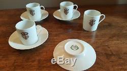 Vintage CGT FRENCH LINE Demitasse Cup and Saucer GDA Limoges SET OF 4