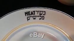 Vintage Cunard Foley Bone-China HebrewithKosher Demitasse Cup & Saucer Set Meat