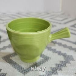 Vintage Fiesta Demitasse Cup and Saucer in Original 1950's Chartreuse Glaze