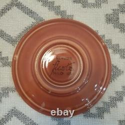 Vintage Fiesta Demitasse Cup and Saucer in Original 1950's Rose Glaze Excellent