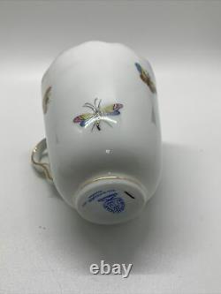 Vintage Herend Hungary Trembluese Demitasse Cup & Saucer Rothschild Bird Pattern