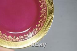 Vintage Johann Haviland Gold Gilt & Encrusted Maroon Demitasse Cup & Saucer