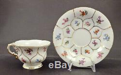 Vintage Meissen Demitasse Cup & Saucer