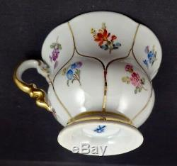 Vintage Meissen Demitasse Cup & Saucer, Hand Painted